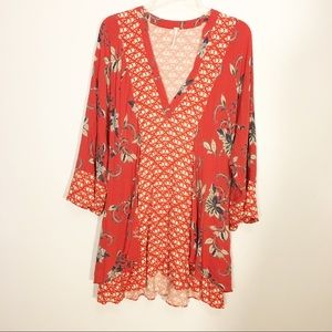 Free People Bell Sleeve Dress Size Large Tunic